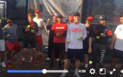 November 3, 2017 – University of Dayton Men's Tennis Team take the Juggle4Life Challenge